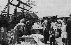 1955年メーデーに参加した生協組合員